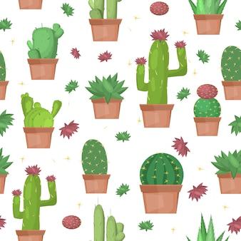 Fondo senza cuciture cactus