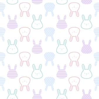 Fondo senza cuciture coniglio carino