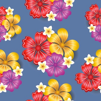 Fondo senza cuciture del modello dei fiori tropicali