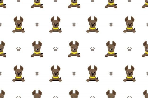 Fondo senza cuciture del modello del cane del carattere