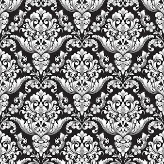 Fondo senza cuciture del modello del damasco di vettore. ornamento damascato vecchio stile di lusso classico, trama vittoriana senza soluzione di continuità per sfondi, tessuti, confezioni.