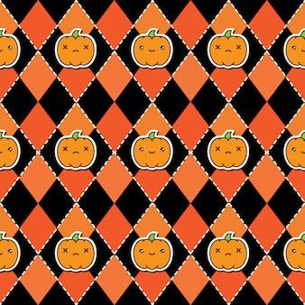 Fondo senza cuciture del modello di halloween con le zucche