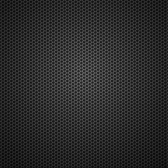 Fondo senza cuciture del modello di vettore metallico di griglia metallica della fibra di carbonio