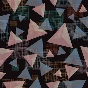 Fondo senza cuciture del modello geometrico astratto del triangolo