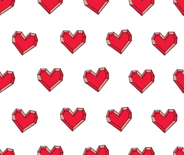 Fondo senza cuciture della pietra preziosa del cuore rosso