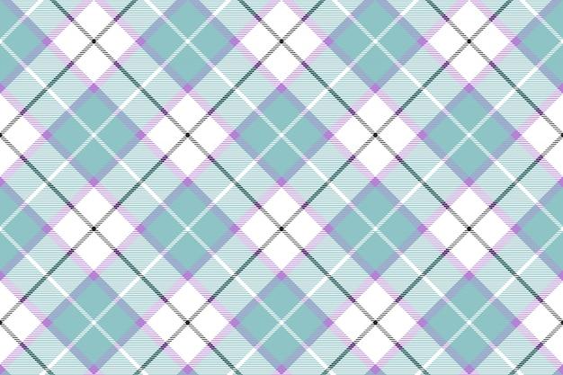 Fondo senza cuciture di colore bianco blu del bambino del plaid di tartan diagonale