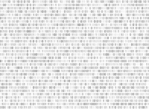 Fondo senza cuciture di vettore di codice di dati del computer della matrice binaria
