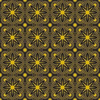 Fondo senza cuciture editabile del modello del fiore astratto nel colore dell'oro
