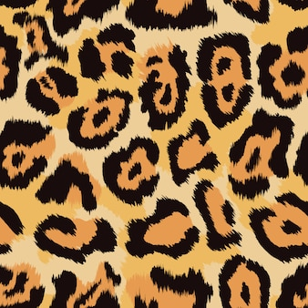 Fondo senza cuciture pelle di leopardo.