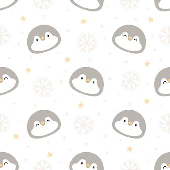 Fondo senza cuciture pinguino