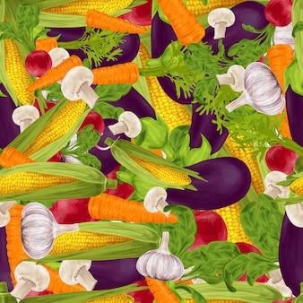 Fondo senza cuciture realistico di verdure