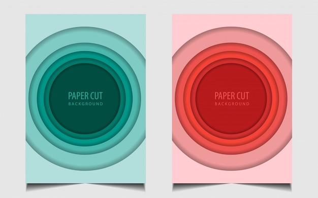 Fondo stabilito della copertura del taglio della carta dell'insieme