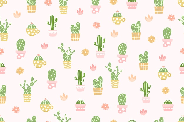 Fondo sveglio del modello del cactus.