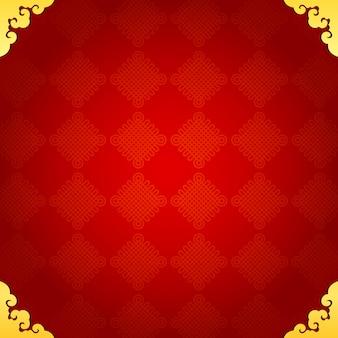 Fondo tradizionale cinese con cornice dorata
