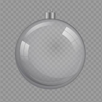 Fondo trasparente dell'illustrazione di cristallo della palla di natale