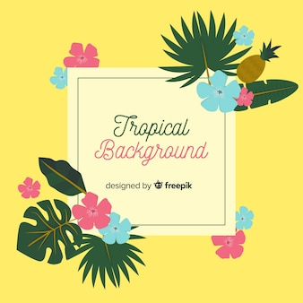 Fondo tropicale disegnato a mano adorabile