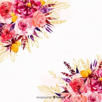 Fondo variopinto dei bei fiori dell'acquerello