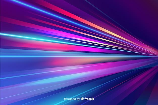 Fondo variopinto della traccia della luce al neon