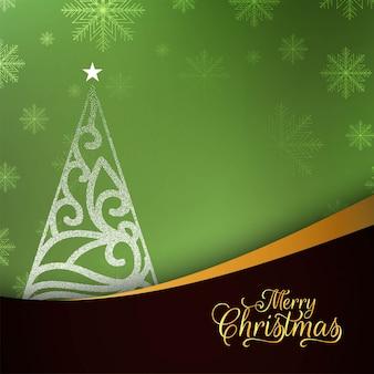 Fondo verde alla moda astratto di Buon Natale