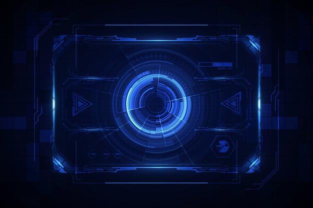 Fondo virtuale del sistema di schermo futuristico futuro astratto di gui dell'interfaccia utente