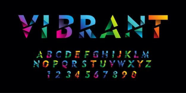 Font alfabeto moderno colorato