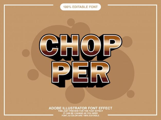 Font modificabile in stile grafico moderno chopper grassetto