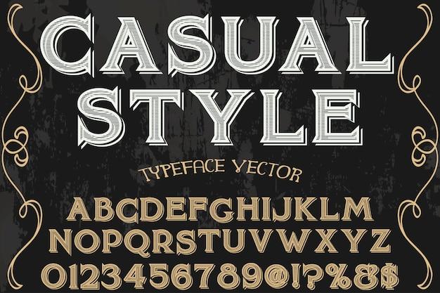 Font vintage tipografia font design stile casual
