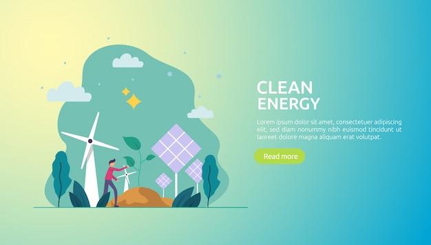Fonti di energia elettrica verde rinnovabile e ambiente pulito