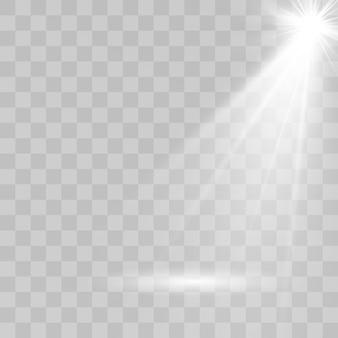 Fonti luminose, illuminazione da concerto, set di faretti. faretto da concerto con fascio luminoso, faretti illuminati.