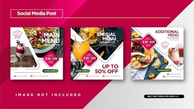 Food & Culinary Instagram Post per modello di promozione dei social media.