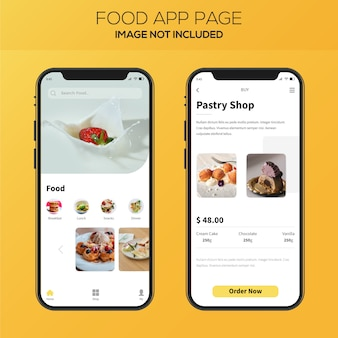 Food delivery app ui design