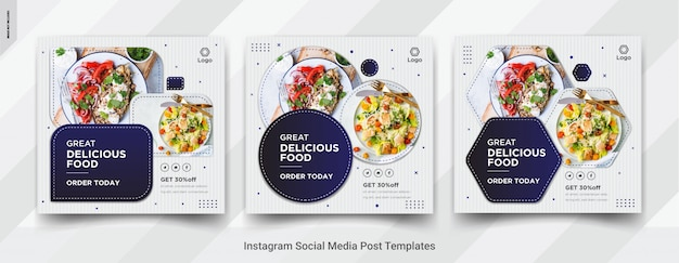 Food instagram post social media design