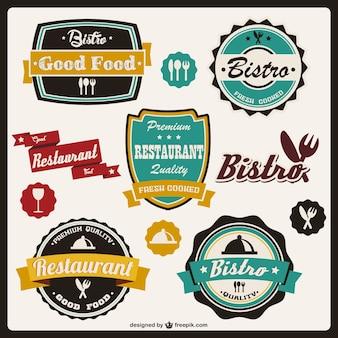 Food stickers retro