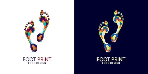 Foot print logo