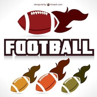 Football americano grafica palla veloce