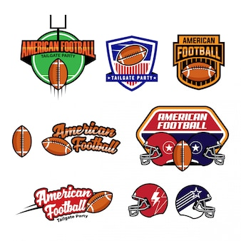 Football americano logo