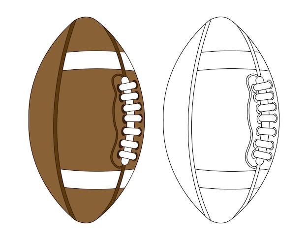 Football americano sopra illustrazione vettoriale sfondo bianco