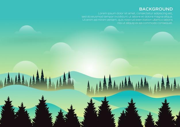 Foresta di montagna paesaggio