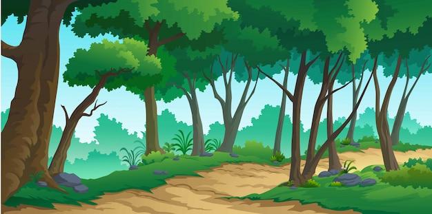 Foresta di paesaggio durante il giorno