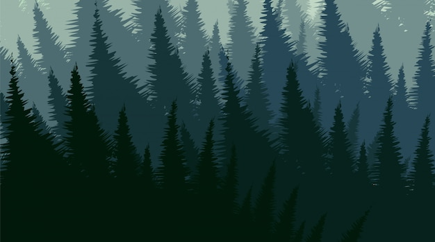 Foresta di pini vettoriale