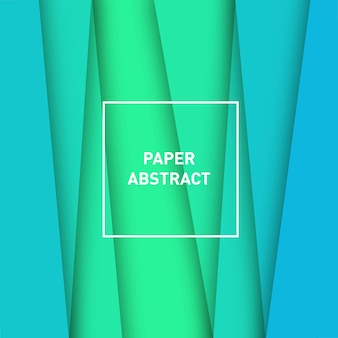 Foresta pluviale astratta di carta