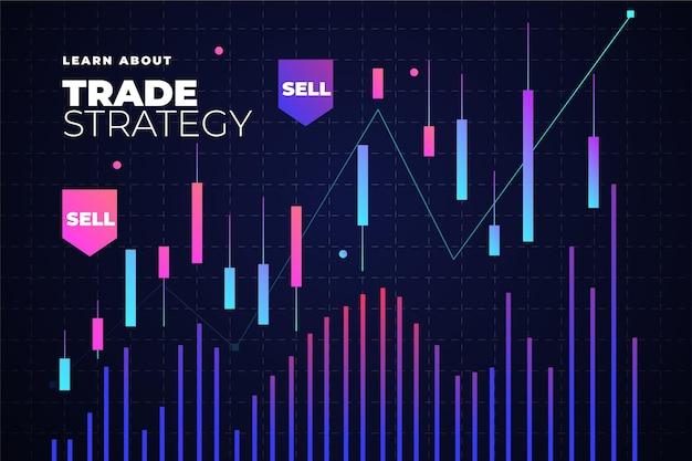 Forex trading sfondo con grafico
