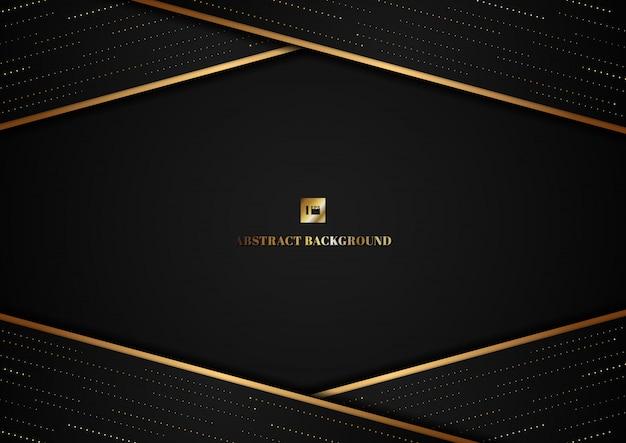 Forma astratta del triangolo del modello e linea dell'oro