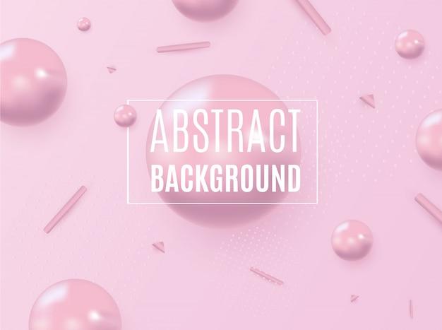 Forma astratta di liquido su sfondo rosa. design liquido.