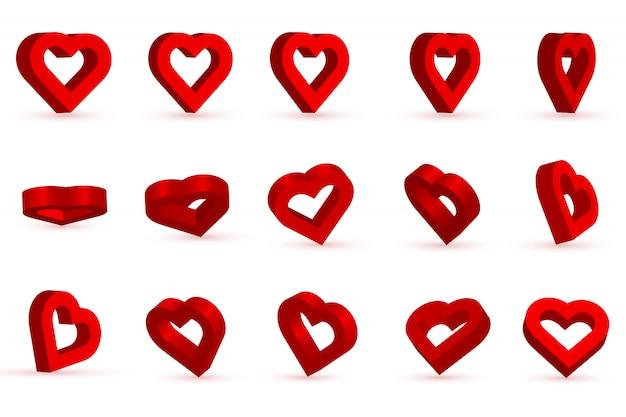 Forma cuore rosso per san valentino. amore, romanticismo.