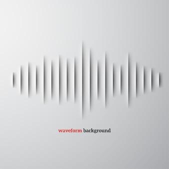 Forma d'onda sonora di carta con ombra