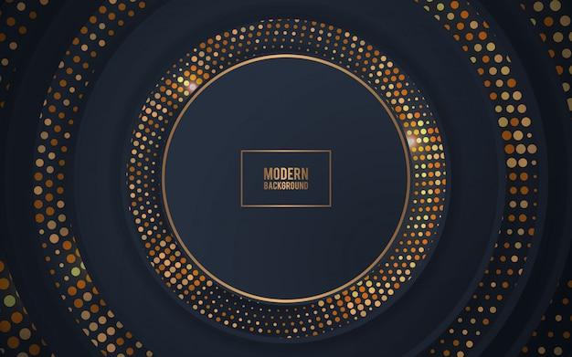 Forma del cerchio di decorazione realistica nera con glitter oro
