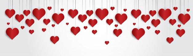 Forma del cuore di amore di festa della carta del regalo di valentine day