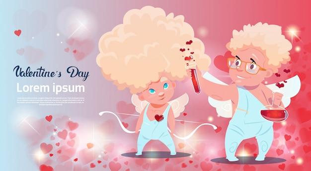 Forma del cuore di cupido di amour love amour love day card card