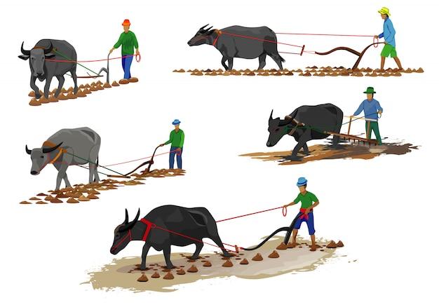 Forma di cartone animato contadino